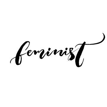 Feminist. Single handritten word by annakutukova