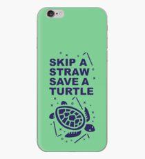Skip A Straw Retten Sie eine Schildkröte - Love Turtles Logo iPhone-Hülle & Cover