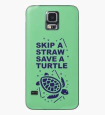 Skip A Straw Save A Turtle - Love Turtles Logo Case/Skin for Samsung Galaxy