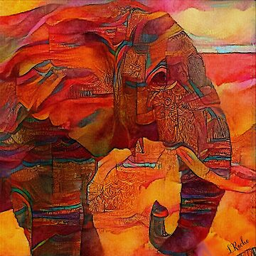 Jaipur elephant by LEAROCHE