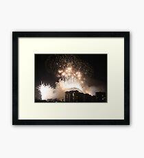 Sydney NYE 2009 Habour Bridge with different view Framed Print
