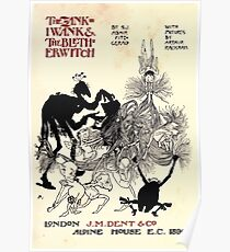The Zankiwank & the Bletherwitch by Shafto Justin Adair Fitz Gerald art Arthur Rackham 1896 0011 Title Page Poster