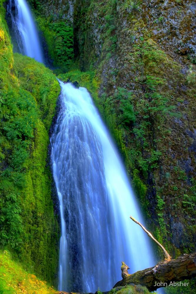Wahkeena Falls - Columbia River Gorge by John Absher
