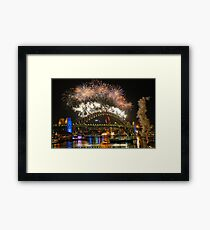 Sydney New Years Eve Fireworks 2009 - 2010 Sydney Harbour Bridge Framed Print