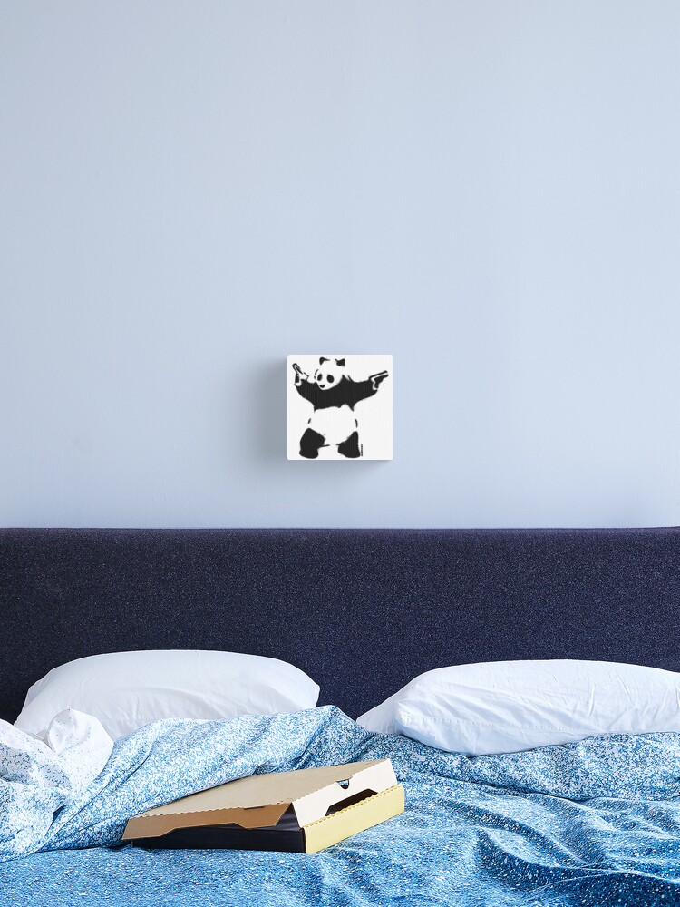 BANKSY PANDA GRAFFITI CANVAS WALL ART PICTURES PRINTS
