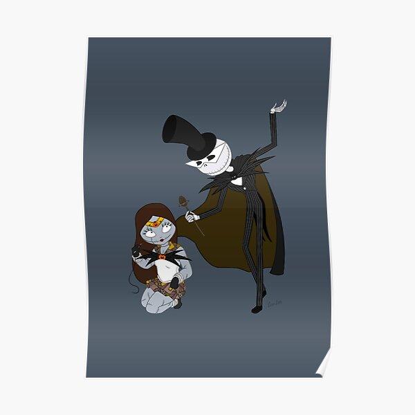 Sailor Sally and Tuxedo Skellington Poster