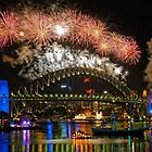 Sydney New Years Eve Fireworks 2009 - 2010 Sydney Harbour Bridge by DavidIori