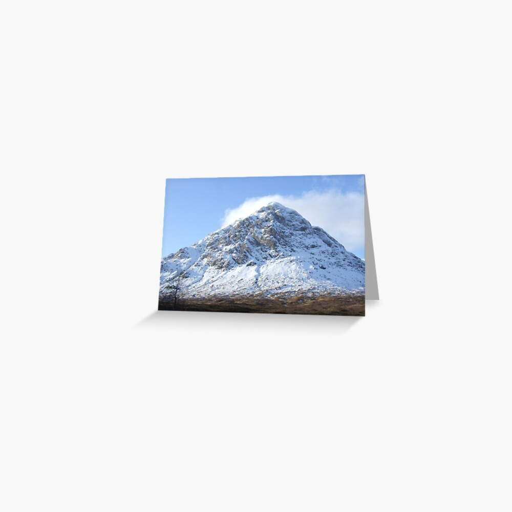 Etive Mor in the snow Greeting Card