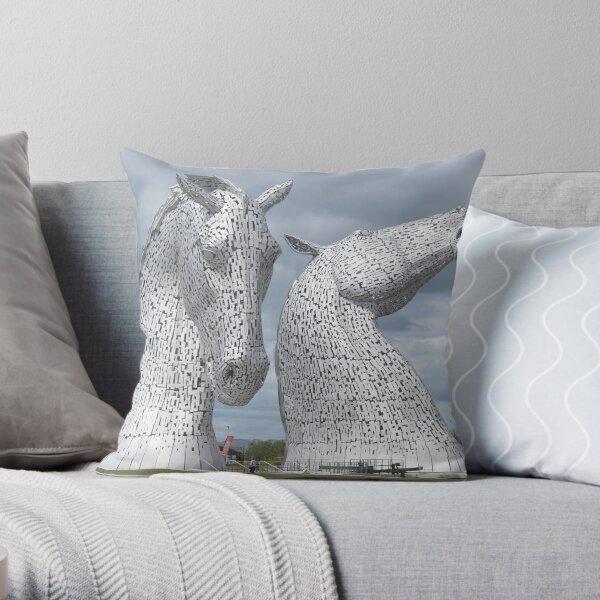 The Kelpies gifts , Helix Park, Scotland Throw Pillow