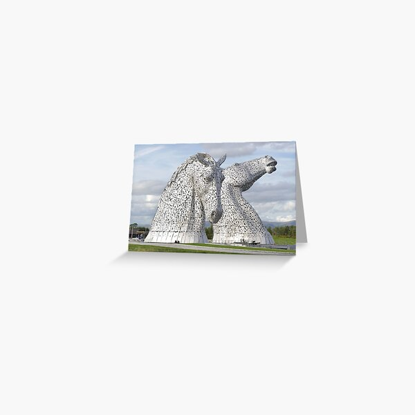 the Kelpies , Helix Park , Grangemouth  43112 Greeting Card