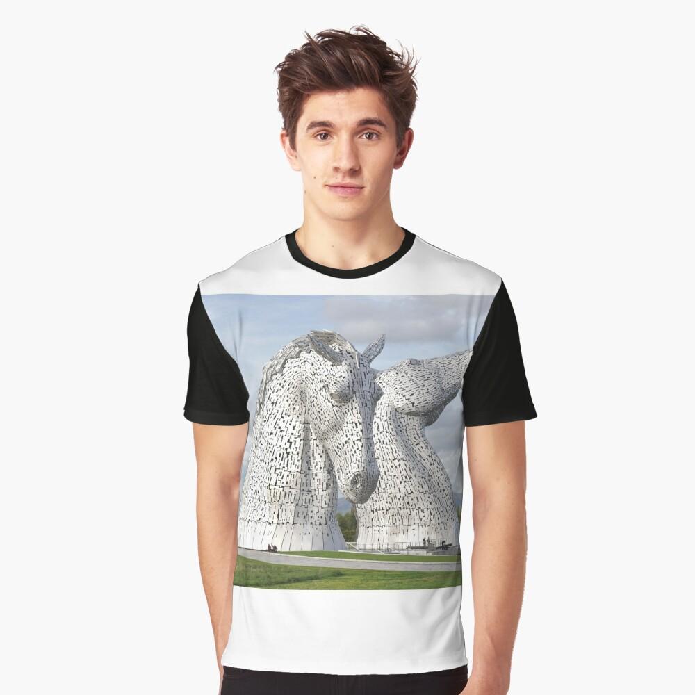 the Kelpies , Helix Park , Grangemouth  43112 Graphic T-Shirt