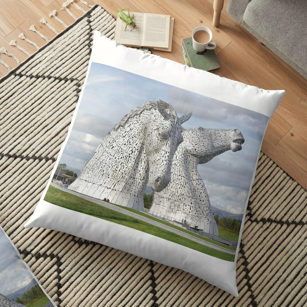 the Kelpies , Helix Park , Grangemouth  43112 Floor Pillow