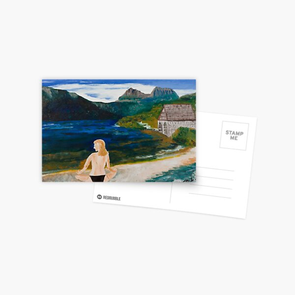 Woman at Dove Lake Postcard
