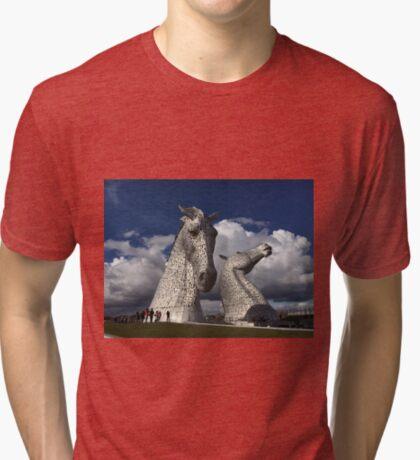 The Kelpies, Helix Park , Grangemouth Tri-blend T-Shirt