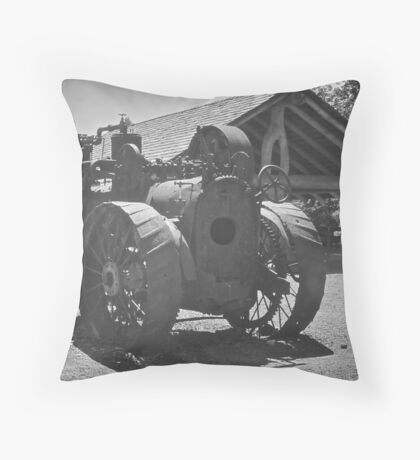 Workhorse, Camp 18, Oregon Throw Pillow