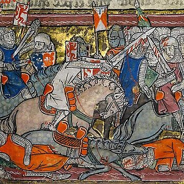 Medieval panel featuring a furious battle by Geekimpact