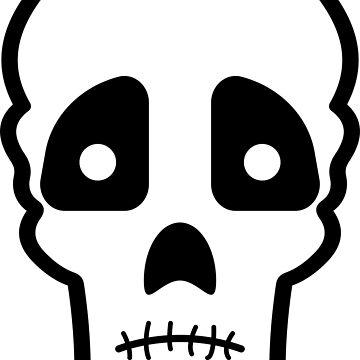 Sad skull by Melcu
