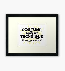 Fortune Favors the Technique Framed Print
