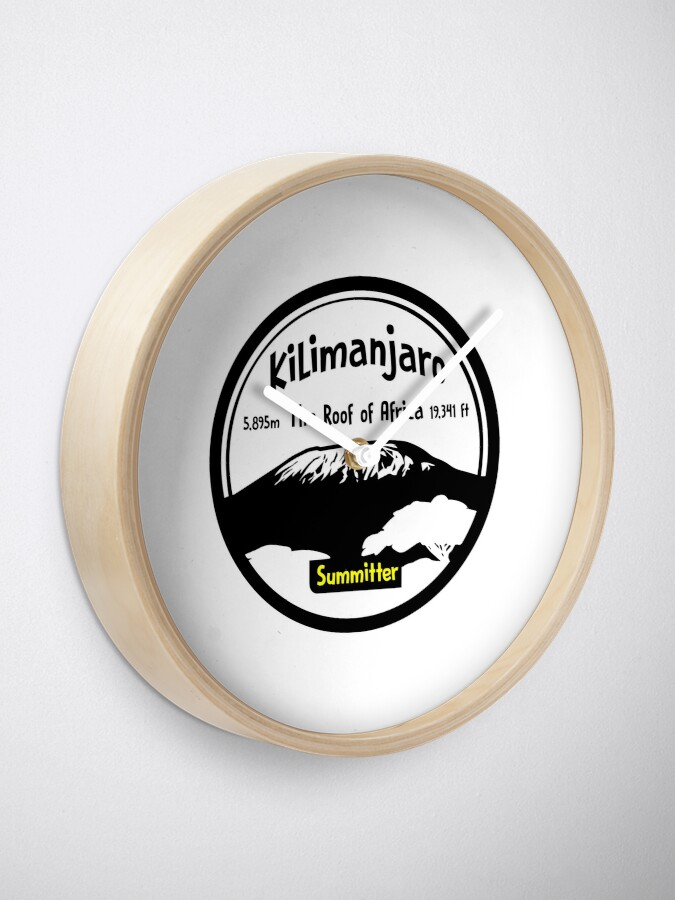 Alternate view of Kilimanjaro Summitter - The Roof of Africa Clock