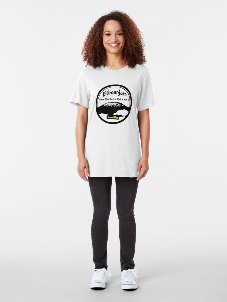Alternate view of Kilimanjaro Summitter - The Roof of Africa Slim Fit T-Shirt