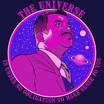 The Universe - Nerdy Scientists Quote Shirt NDGT Astrophysics Tyson by kgullholmen