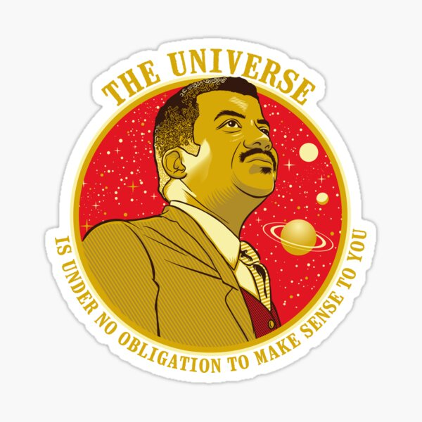The Universe - Nerdy Scientists Quote Shirt NDGT Astrophysics Tyson Sticker