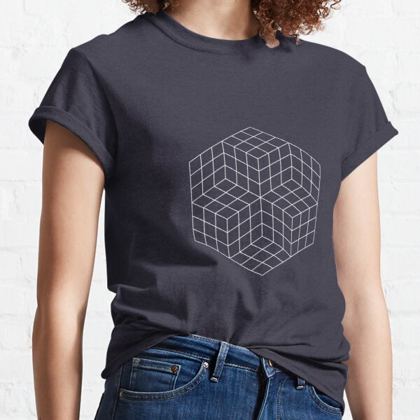 Vasarely cubes on black Classic T-Shirt