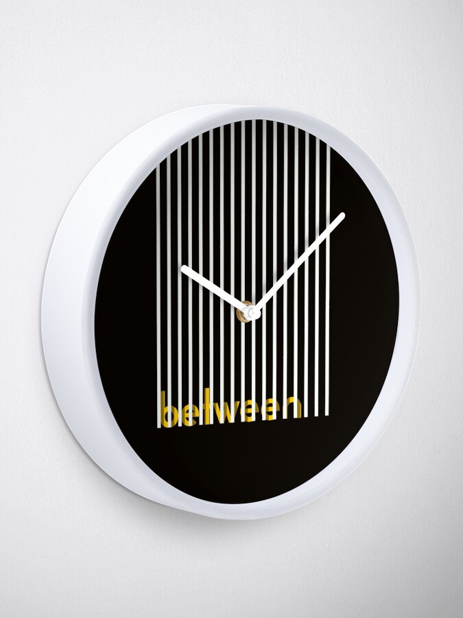 Alternate view of look beyond the obvious poster Clock