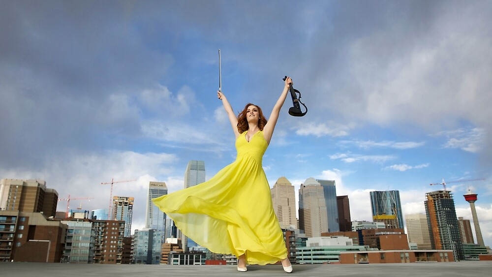 Violinist on a Rooftop by Sophie Armstrong