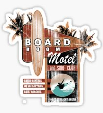 board room motel Sticker