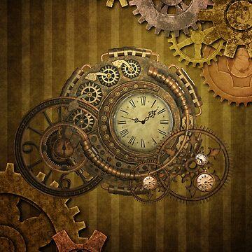 Steampunk design, wonderful clockwork by nicky2342