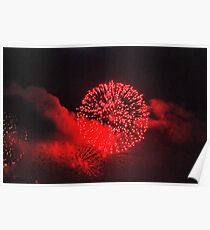 Firework red Poster