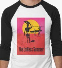 Endless Summer, 1966 Surf Sport Documentary Poster, Artwork, Prints, Posters, Tshirts, Men, Women, Kids Baseball ¾ Sleeve T-Shirt