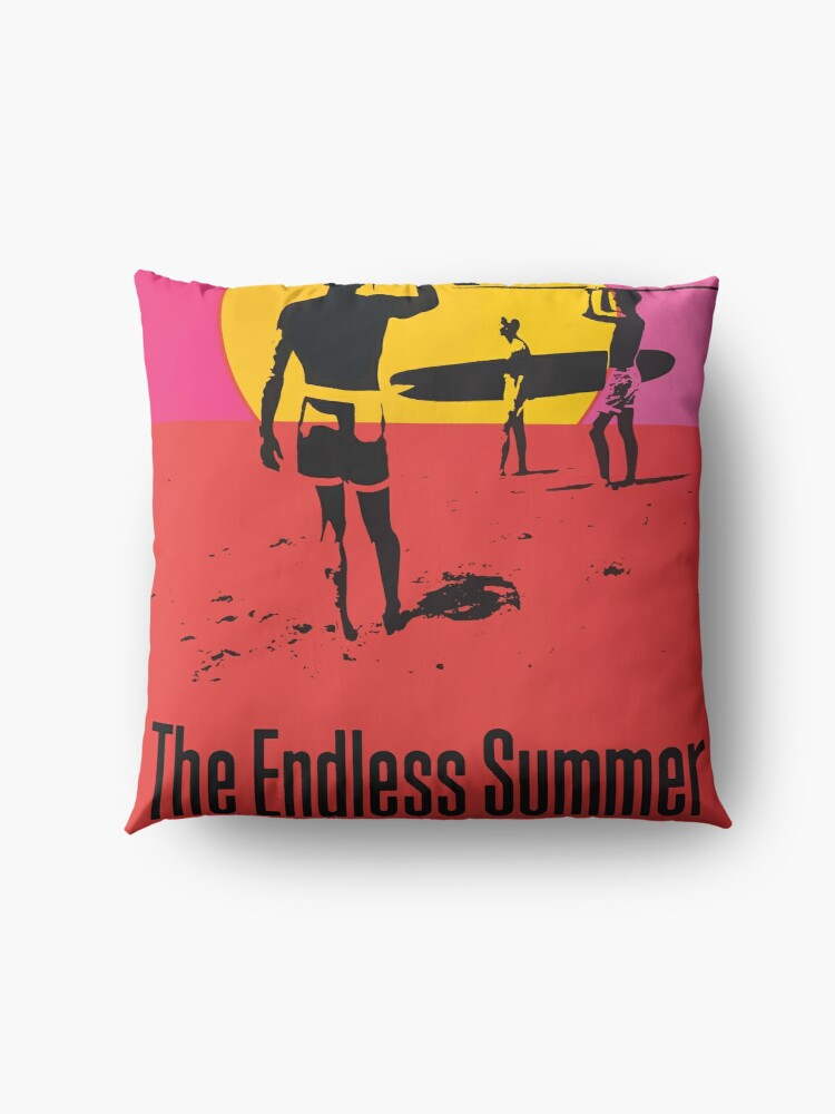 Alternate view of Endless Summer, 1966 Surf Sport Documentary Poster, Artwork, Prints, Posters, Tshirts, Men, Women, Kids Floor Pillow
