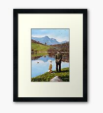 Look while life lasts... Framed Print