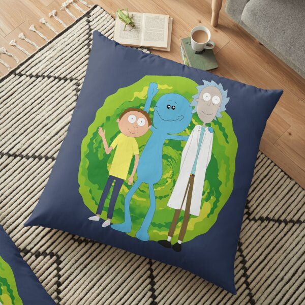 Rick and Morty and Mr. Meeseeks Floor Pillow