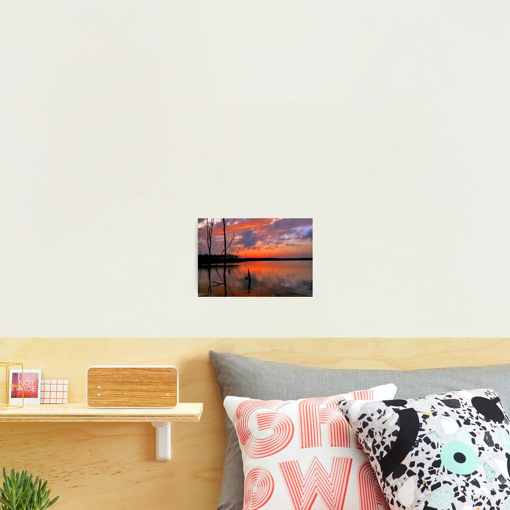 Reflection of  Color Photographic Print