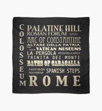 Rome Italy Famous Landmarks Scarf
