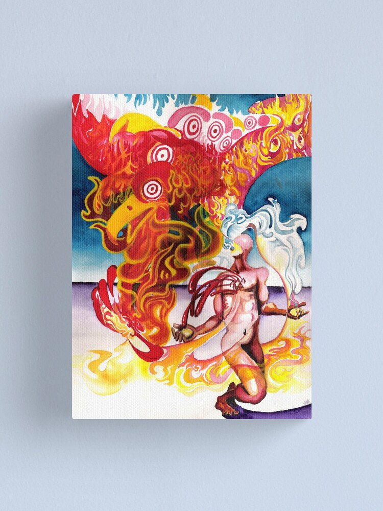 Alternate view of A Twig Burning in the Flames of Life Canvas Print