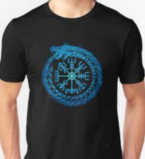 Vegvisir Jörmungandr Migardschlange nordische Mythologie Slim Fit T-Shirt