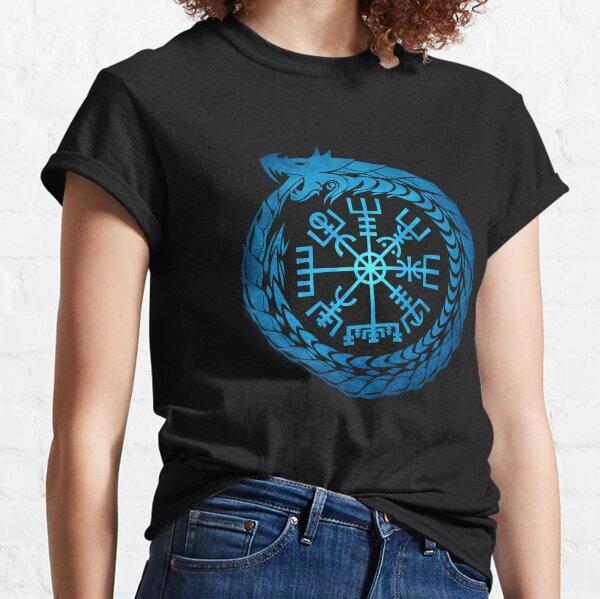 Vegvisir Jormungandr World Serpent  Classic T-Shirt