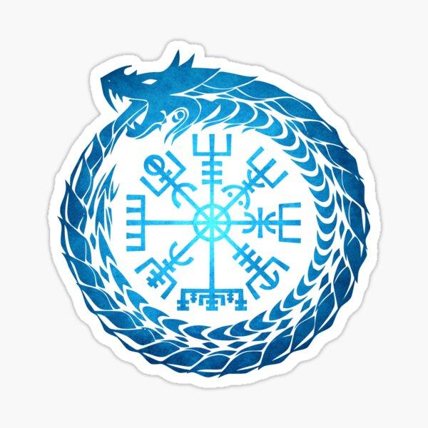 Vegvisir Jormungandr World Serpent  Sticker