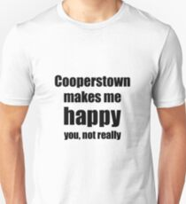 Cooperstown Cocktail Lover Funny Gift for Friend Alcohol Mixed Drink Unisex T-Shirt