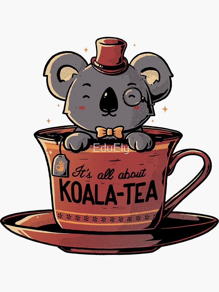 Té de koala gracioso animal lindo de EduEly