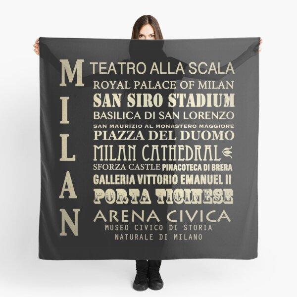 Milan Famous Landmarks Scarf