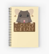 I'm a crazy Rat Lady more subtle cute rats face Spiral Notebook