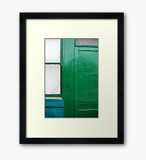 Earth Tones on 4th Street Framed Print