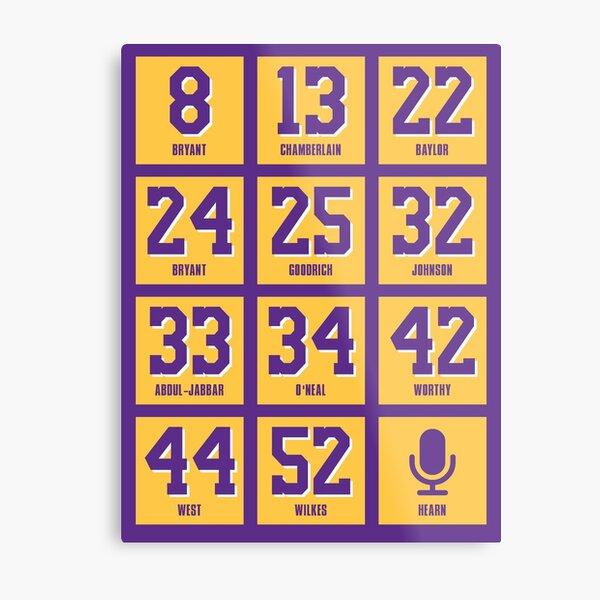 Los Angeles Basketball Retired Numbers Metal Print