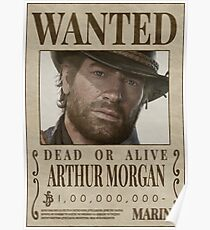 Red Dead Redemption 2 - Wanted / Wanted Arthur Morgan Poster