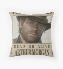 Red Dead Redemption 2 - Wanted / Wanted Arthur Morgan Throw Pillow